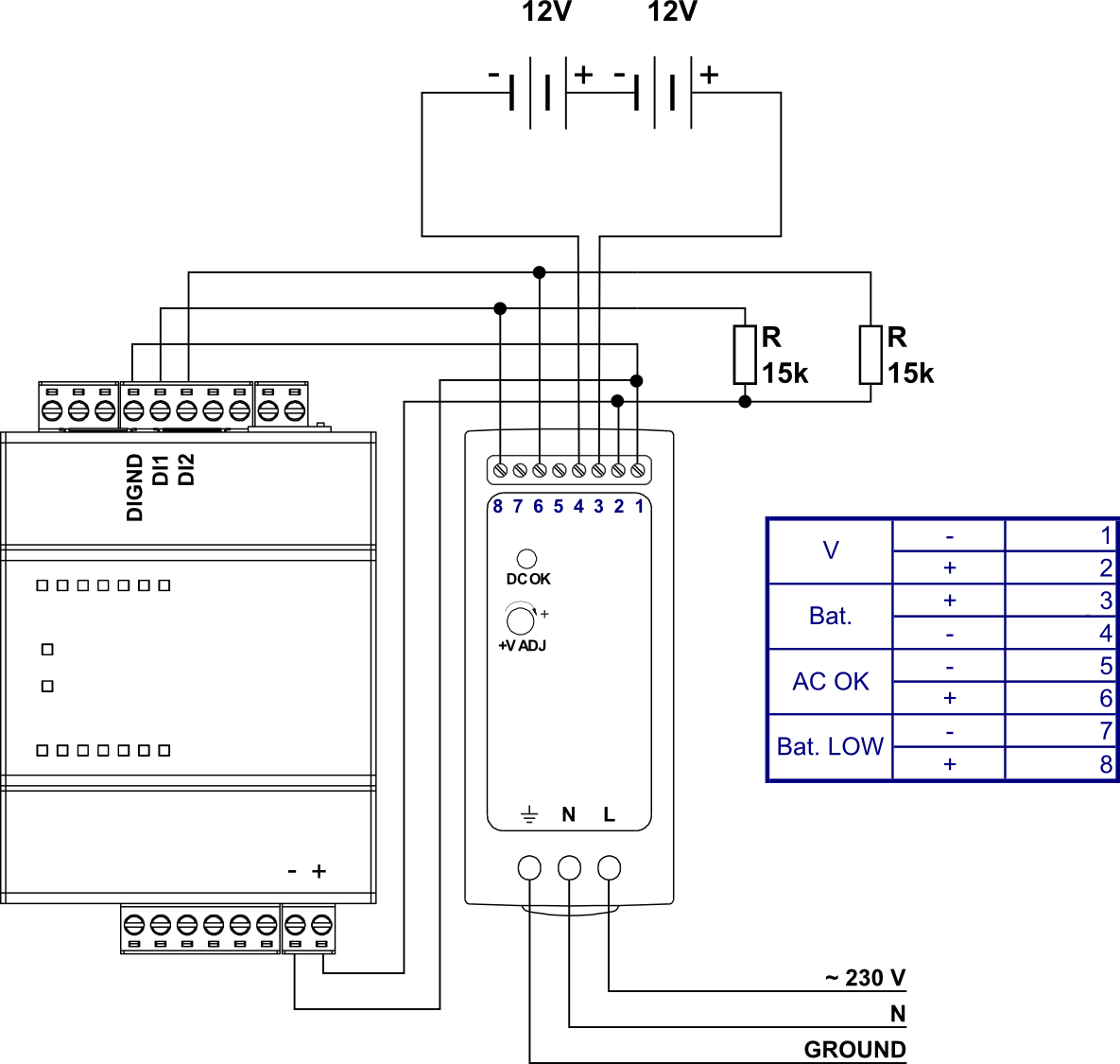 DRC 40B wiring mean well drc 40b power supply 40w unipi Basic Electrical Wiring Diagrams at mifinder.co