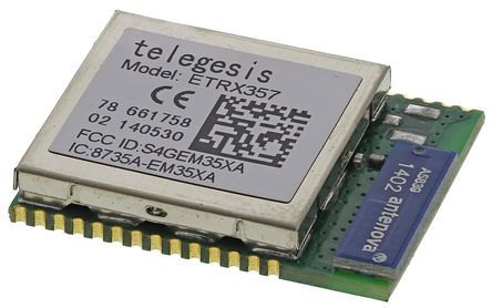 ZigBee ETRX357 module for the control of wireless sensors